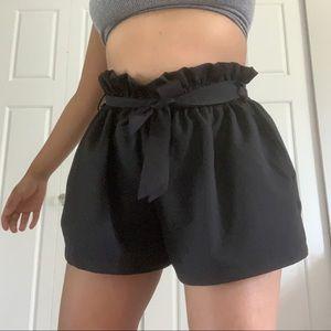 cherry koko paperbag shorts NWOT